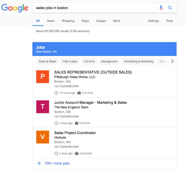 جوجل للوظائف Google For Jobs خدمة قد تقتل مواقع التوظيف